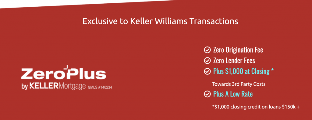 NO Lender Fees SAVE Thousands!!! Keller Mortgage Zero Plus Loan